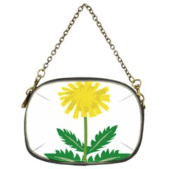 Sunflower Floral Flower Yellow Green Chain Purses (two Sides)  by Mariart