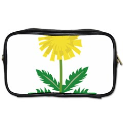 Sunflower Floral Flower Yellow Green Toiletries Bags by Mariart