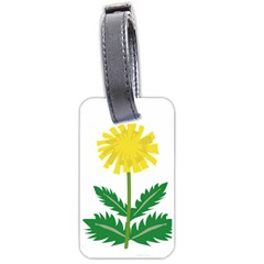 Sunflower Floral Flower Yellow Green Luggage Tags (two Sides) by Mariart