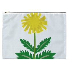 Sunflower Floral Flower Yellow Green Cosmetic Bag (xxl)  by Mariart
