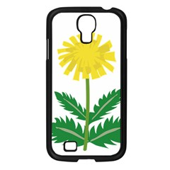 Sunflower Floral Flower Yellow Green Samsung Galaxy S4 I9500/ I9505 Case (black) by Mariart
