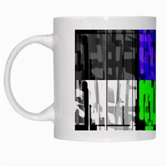 Repeated Tapestry Pattern White Mugs by Nexatart