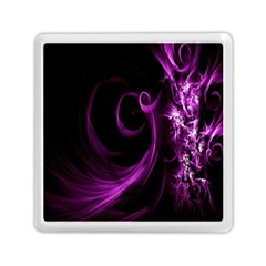Purple Flower Floral Memory Card Reader (square)  by Mariart