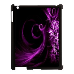 Purple Flower Floral Apple Ipad 3/4 Case (black) by Mariart