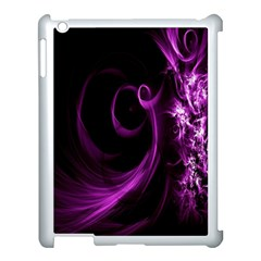 Purple Flower Floral Apple Ipad 3/4 Case (white) by Mariart