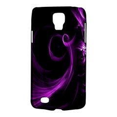 Purple Flower Floral Galaxy S4 Active by Mariart