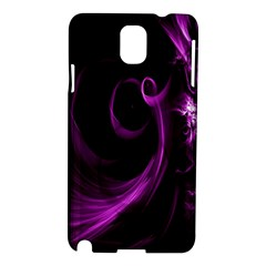Purple Flower Floral Samsung Galaxy Note 3 N9005 Hardshell Case by Mariart