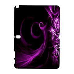 Purple Flower Floral Galaxy Note 1 by Mariart