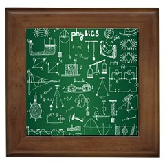 Scientific Formulas Board Green Framed Tiles by Mariart