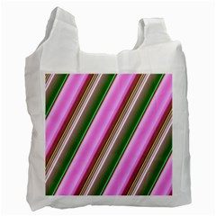 Pink And Green Abstract Pattern Background Recycle Bag (one Side) by Nexatart