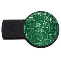Scientific Formulas Board Green Usb Flash Drive Round (2 Gb) by Mariart