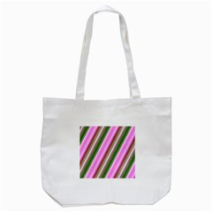 Pink And Green Abstract Pattern Background Tote Bag (white) by Nexatart
