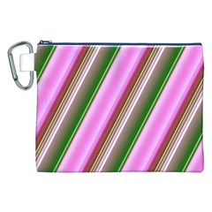 Pink And Green Abstract Pattern Background Canvas Cosmetic Bag (xxl) by Nexatart