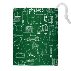 Scientific Formulas Board Green Drawstring Pouches (xxl) by Mariart
