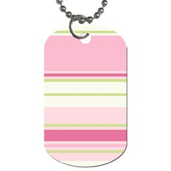 Turquoise Blue Damask Line Green Pink Red White Dog Tag (one Side) by Mariart
