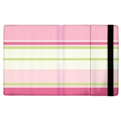 Turquoise Blue Damask Line Green Pink Red White Apple Ipad 3/4 Flip Case by Mariart