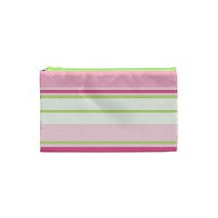 Turquoise Blue Damask Line Green Pink Red White Cosmetic Bag (xs) by Mariart