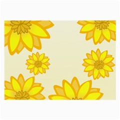Sunflowers Flower Floral Yellow Large Glasses Cloth by Mariart