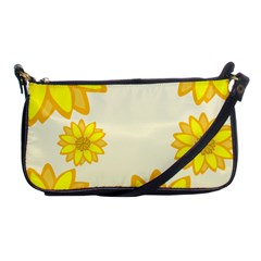 Sunflowers Flower Floral Yellow Shoulder Clutch Bags by Mariart