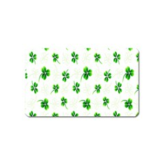 Leaf Green White Magnet (name Card) by Mariart