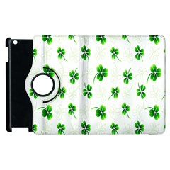 Leaf Green White Apple Ipad 3/4 Flip 360 Case by Mariart
