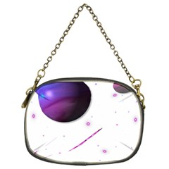 Space Transparent Purple Moon Star Chain Purses (two Sides)  by Mariart