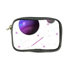 Space Transparent Purple Moon Star Coin Purse by Mariart