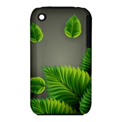 Leaf Green Grey Iphone 3s/3gs by Mariart