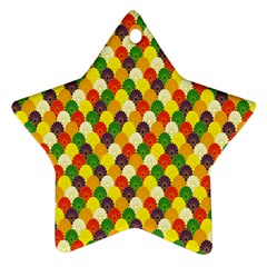 Flower Floral Sunflower Color Rainbow Yellow Purple Red Green Ornament (star) by Mariart