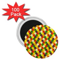 Flower Floral Sunflower Color Rainbow Yellow Purple Red Green 1 75  Magnets (100 Pack)  by Mariart