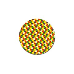 Flower Floral Sunflower Color Rainbow Yellow Purple Red Green Golf Ball Marker by Mariart