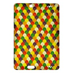 Flower Floral Sunflower Color Rainbow Yellow Purple Red Green Amazon Kindle Fire Hd (2013) Hardshell Case by Mariart