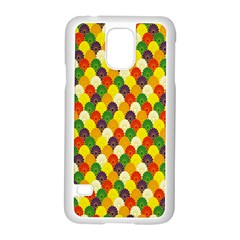 Flower Floral Sunflower Color Rainbow Yellow Purple Red Green Samsung Galaxy S5 Case (white) by Mariart