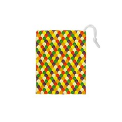 Flower Floral Sunflower Color Rainbow Yellow Purple Red Green Drawstring Pouches (xs)  by Mariart
