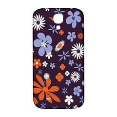 Bright Colorful Busy Large Retro Floral Flowers Pattern Wallpaper Background Samsung Galaxy S4 I9500/i9505  Hardshell Back Case by Nexatart
