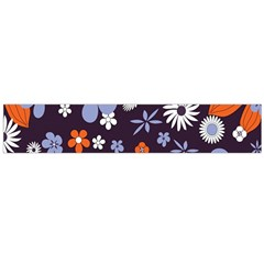 Bright Colorful Busy Large Retro Floral Flowers Pattern Wallpaper Background Flano Scarf (large) by Nexatart