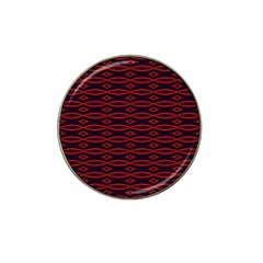 Repeated Tapestry Pattern Abstract Repetition Hat Clip Ball Marker (4 Pack) by Nexatart