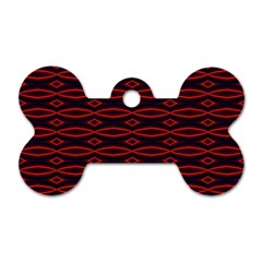 Repeated Tapestry Pattern Abstract Repetition Dog Tag Bone (two Sides) by Nexatart