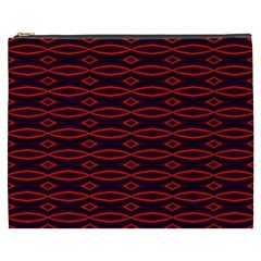 Repeated Tapestry Pattern Abstract Repetition Cosmetic Bag (xxxl)  by Nexatart