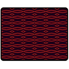 Repeated Tapestry Pattern Abstract Repetition Double Sided Fleece Blanket (medium)  by Nexatart