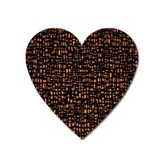 Brown Box Background Pattern Heart Magnet by Nexatart