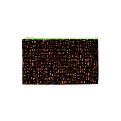 Brown Box Background Pattern Cosmetic Bag (xs) by Nexatart