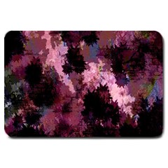 Grunge Purple Abstract Texture Large Doormat  by Nexatart