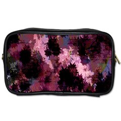 Grunge Purple Abstract Texture Toiletries Bags by Nexatart