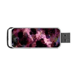 Grunge Purple Abstract Texture Portable Usb Flash (two Sides) by Nexatart
