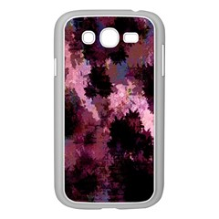 Grunge Purple Abstract Texture Samsung Galaxy Grand Duos I9082 Case (white) by Nexatart