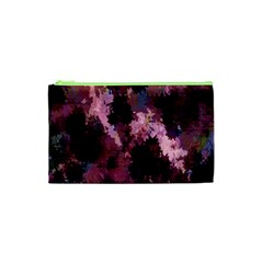 Grunge Purple Abstract Texture Cosmetic Bag (xs) by Nexatart