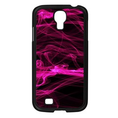 Abstract Pink Smoke On A Black Background Samsung Galaxy S4 I9500/ I9505 Case (black) by Nexatart