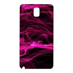 Abstract Pink Smoke On A Black Background Samsung Galaxy Note 3 N9005 Hardshell Back Case by Nexatart