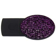 Purple Denim Background Pattern Usb Flash Drive Oval (4 Gb) by Nexatart